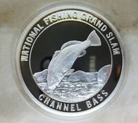 North American Fishing Club Mahi NAFC Grand Slam Silver Plate Collector Coin