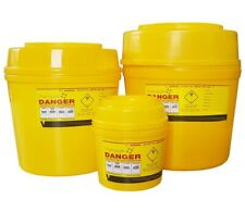 50 X 8 Litre Yellow Sharps Bins Container Needle Sharp Waste