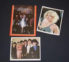 1979 Blondie Fan Club tour program + Debbie Harry picture Deborah + band photo