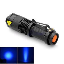 Portable UV Ultra Violet LED Flashlight Purple Mini Blacklight Torch Lamp Light