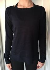 Lululemon Size 2 Well Being Sweater Crew Midnight Blue MDNI NWT Top LS