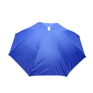 Folding Fishing Umbrella Hat UV Protection Camping Headwear Beach Sun Head Cap