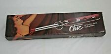 """Vintage NORELCO Chic 3/8"""" Skinny Curling Iron Model CCI 6 Tested Wand Dual Temp"""
