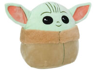 "5""/10"" Squishmallows Plush Stuffed Toy Baby Yoda The Child Pillow Gift"