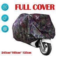 New Motorcycle Waterproof Camouflage Rain Cover Motorbike Dust Proof XXL Bag UK