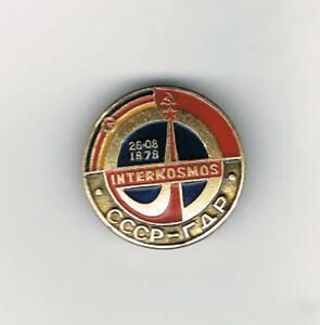 Old Russian/Soviet SOYUZ 31 Space flight pin badge USSR/Interkosmos/GDR/Salyut6