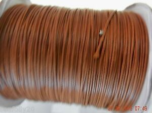 10 metres x .5mm thick Polyester  Cotton Wax Cord, chocolate brown - - free post