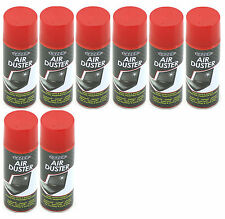 8 x 400ml Compressed Air Duster Spray Can Cleans Protects Laptops Keyboards etc
