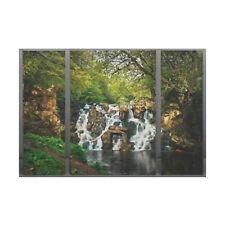 Waterfall Triptych Canvas Picture - 3 Panel Split H90 x W120cm