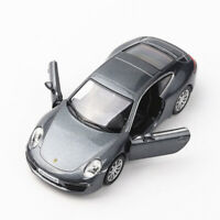 1:36 Porsche 911 Carrera S Sports Car Model Metal Diecast Toy Vehicle Gray Gift