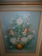 "ROSSY FRAMED & SIGNED VINTAGE FLORAL OIL PAINTING 20.5"" X 16.5"" - GORGEOUS!"