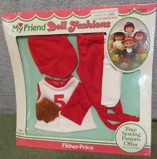 1982 Fisher Price My Friend Baseball Outfit Doll Fashion~ On Card~NRFB~Excellent