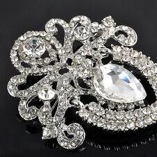 Charm Large Crystal Rhinestone Flower diamante Bridal Brooch Wedding Broach Pin