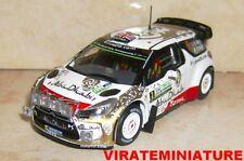 CITROEN DS3 WRC WINNER RALLYE ARGENTINE 2015 KRIS MEEKE IXO DIECAST 1/43