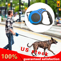 Dog Leash-10Ft Padded Retractable  for Pet Collar Pet Dog  Walking,Blue