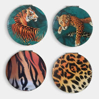 Animal Print Big Cat Spots and Stripes Compact Cosmetic Mirror Pocket Filler