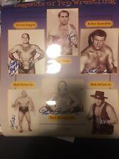 AWA NWA LOU THESZ Killer Kowalski Verne Gagne Bockwinkel Ortons Signed AUTOGRAPH