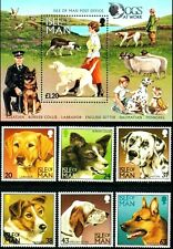 Isle of Man 1996 , Working Dogs, M/S + Stamp Full set MNH