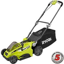 Cordless Electric Lawn Mower 40v Lithium Ion Walk Behind Push 16in Cutting Deck