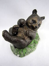 Vintage Bear Figurine Handpainted USA Made Ceramic Brown Wild Animal Forest