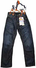 Vingino Jeans Model: Will Blue with Straps Size 12/EU 152 %%NEW%% Loose Skinny