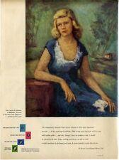 1948 DeBeers PRINT AD Miss Caroline B Johnston by Peter Lauck Engagement