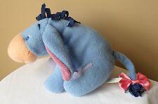"Winnie the Pooh Disney Eeyore Baby plush animal Rattle 2001 Stuffed 10"""