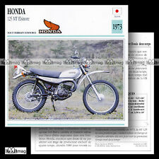 #010.14 HONDA MT 125 ELSINORE 1973 70's Fiche Moto Enduro Motorcycle Card
