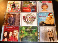 (9) COUNTRY CHRISTMAS CD Lot > Tritt/Strait/Reba McEntire/Blake Shelton/SheDaisy