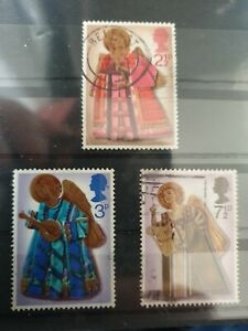 Great Britain 1972 Christmas. 3 stamp set used