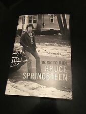 BRUCE SPRINGSTEEN SIGNED BOOK! BORN TO RUN! FULL AUTOGRAPH! THE BOSS!