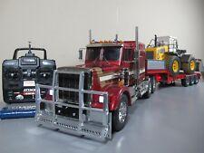 Tamiya 1/14 R/C King Hauler Truck + Bruder Trailer + Futaba ESC with LED lights