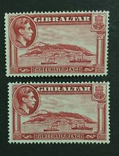 MOMEN: GIBRALTAR SG #123,123a P14 & P13.5 1938 MINT OG H LOT #202178-8445
