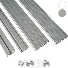Zubehör Aluminium Vorhangschiene Gardinenschiene Innenlaufschiene 1 bis 4 läufig