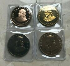 Lot of Four (4) Franklin Mint Proof Bronze Medals