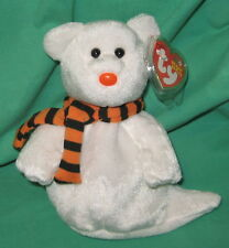 TY Beanie Baby Quivers the Halloween Ghost MWMT Birthday October 21 2002