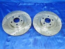 for SUBARU IMPREZA WRX TURBO MOST MODELS FRONT 2 DRILLED & GROOVED BRAKE DISCS
