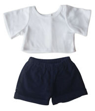 """Boys Blue Jeans and T shirt Outfit Teddy Bear Clothes Fit 14"""" - 18"""" Build-a-bear"""