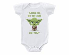 Cute Star Wars Yoda Baby Onesie or Tee Shirt Shower Gift Funny