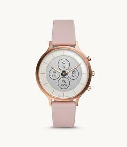 Fossil Women's HR Charter Blush Silicone Hybrid Smart Watch 42mm FTW7013