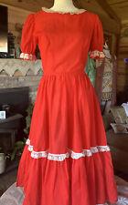 Vintage Traditional Dress Mexican Dance Costume Fiesta Ladies Reenactment