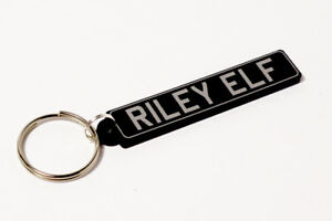 Riley Elf Keyring - UK Number Plate Classic Car Keytag / Keyfob