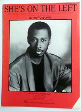 JEFFREY OSBORNE Sheet Music SHE'S ON THE LEFT Hal Leonard Publ 80's SOUL R&B Pop