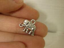 10 elephant charm pendant tibetan silver antique style wholesale craft UK AM143