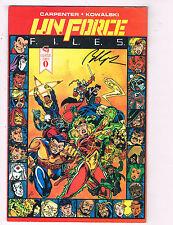 U.N. Force Files #0 NM Caliber Comics SIGNED Comic Book Carpenter DE27