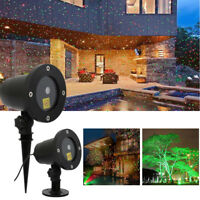 Xmas Christmas Star Laser LED Projector Light Motion Lawn Garden Outdoor Lights