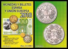 Catálogo GUERRA Monedas y Billetes. 2018 + 300 CARTONES con SOLAPA-GRATIS*****
