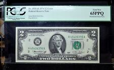 1976 $2 Error Note ✪ Mismatched Prefix Letters ✪ H/B Pcgs 65-Ppq Epq ◢Trusted◣