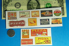 1:87 HO Scale Pizza Shop Pizzaria, CUT & PEEL STICKER  13 Stickers Pabst Bud