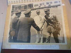 VECCHIA FOTOGRAFIA MILITARE ufficiali in visita capo stato maggiore FOTO ORIG(11